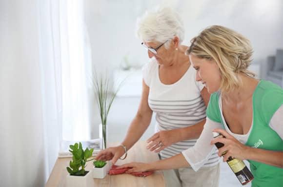 Entlastung im Haushalt für Senioren und pflegende Angehörige