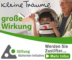 Werden Sie Zustifter - Alzheimer Initiative